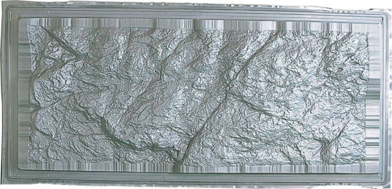 Decorative rock panel (A5083 Superplastic forming material) 1,100 × 2,350 × 0.8t