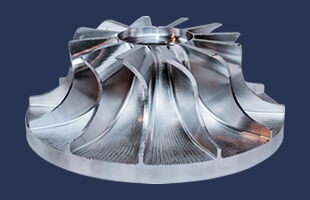 Aluminum alloy impeller